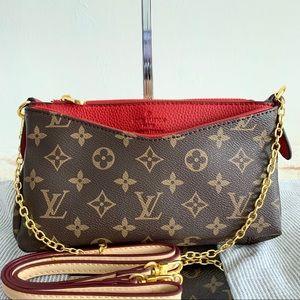 Louis Vuitton 8 x 5 x 2 Pallas red